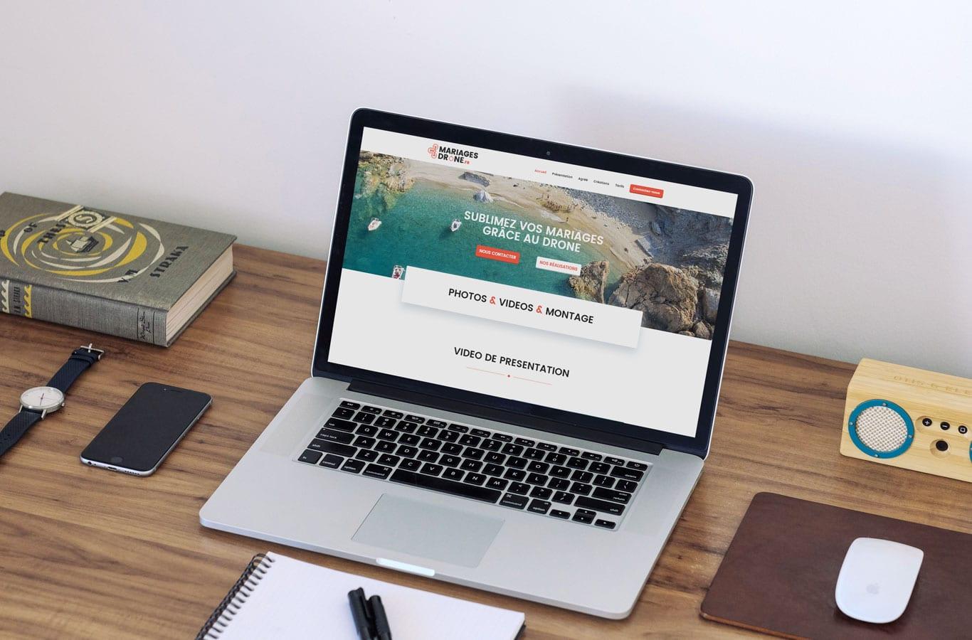 Création du site internet de Mariages Drone
